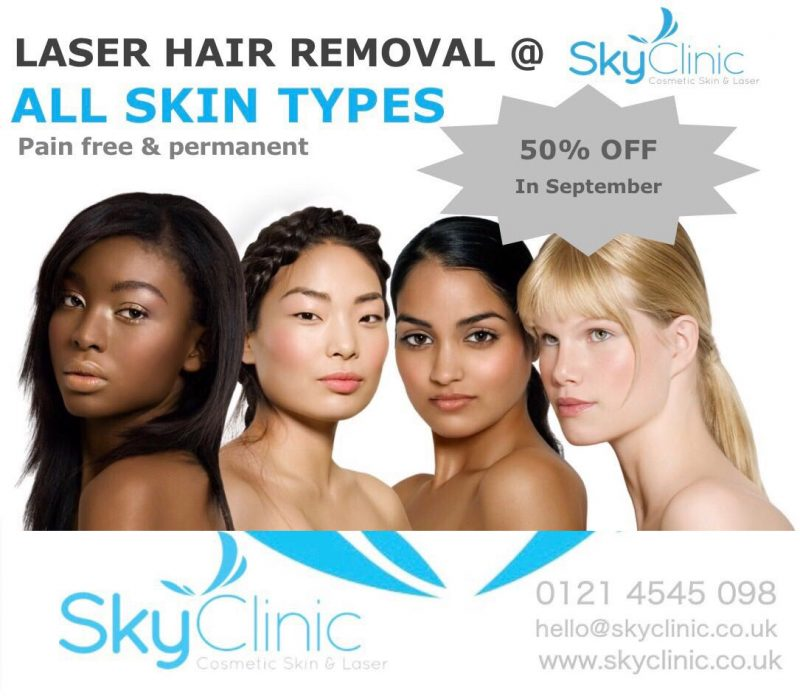 Laser hair removal offer Sky Clinic